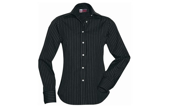 US Basic Pittsburgh Ladies Striped Long Sleeve Shirt
