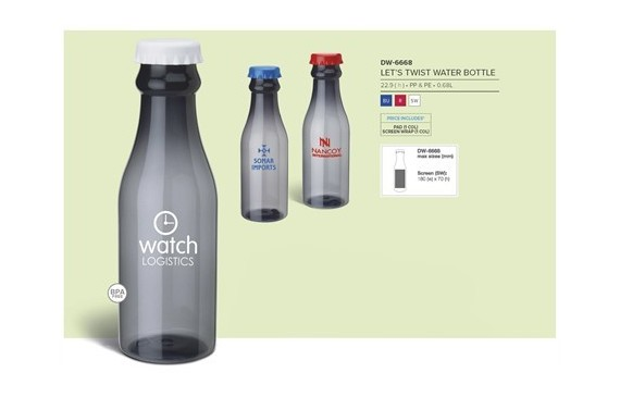Let's Twist Water Bottle - 680ml