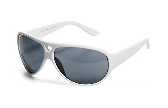 Cruise Sunglasses - Solid White Only