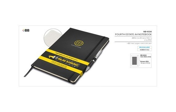 Fourth Estate A4 Notebook