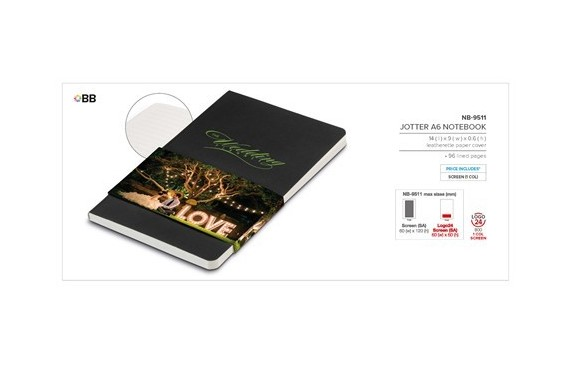 Jotter A6 Notebook - Black Only