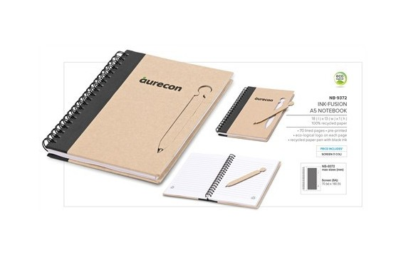 Ink-Fusion A5 Notebook