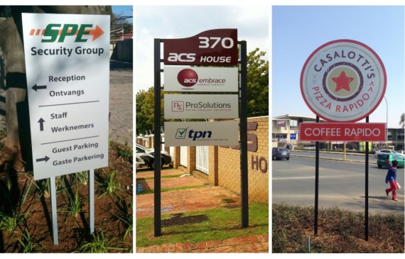 Freestanding signs