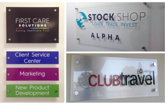 Clear Perspex Signs