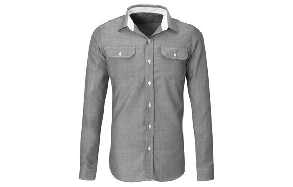 US Basic Mens Long Sleeve Windsor Shirt