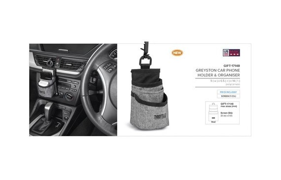 Greyston Car Phone Holder & Organiser