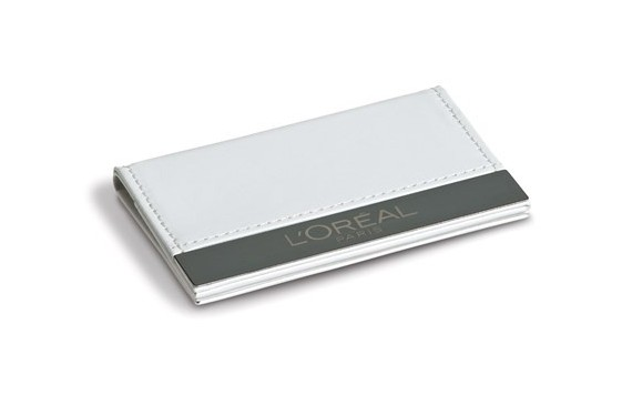 Zara Card Holder& Mirror - Solid White Only
