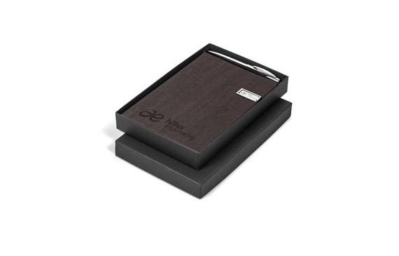 Oakridge Usb Notebook Set - Brown