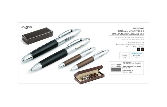 Balmain Montpellier Ball Pen & Rollerball Set