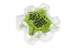 Puzzle Paper Clips - Lime Only - 1