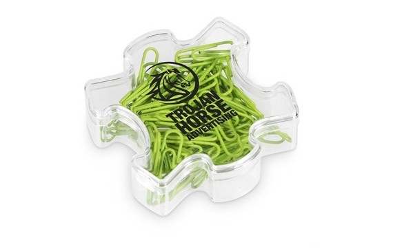 Puzzle Paper Clips - Lime Only