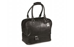 Gary Player Leather Double Decker Bag - Black Only - 1