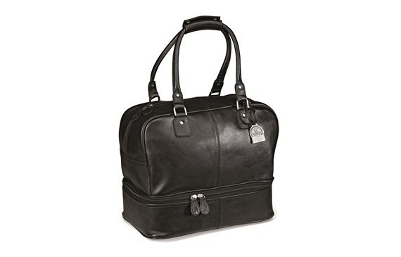 Gary Player Leather Double Decker Bag - Black Only