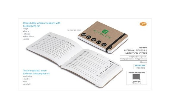 Interval Fitness & Nutrition Jotter