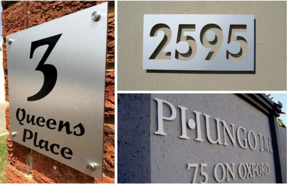 House Number Signs