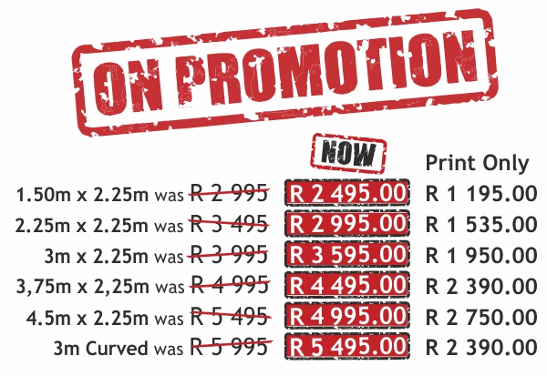Banner Wall Promo Prices